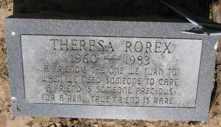 ROREX, THERESA - Lawrence County, Arkansas | THERESA ROREX - Arkansas Gravestone Photos