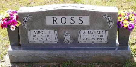 ROSS, VIRGIL EATHERN - Lawrence County, Arkansas | VIRGIL EATHERN ROSS - Arkansas Gravestone Photos