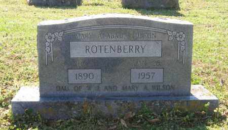 WILSON ROTENBERRY, MARY ALABAMA - Lawrence County, Arkansas | MARY ALABAMA WILSON ROTENBERRY - Arkansas Gravestone Photos
