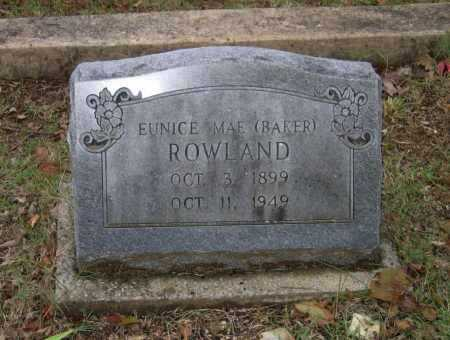 BAKER ROWLAND, EUNICE MAE - Lawrence County, Arkansas | EUNICE MAE BAKER ROWLAND - Arkansas Gravestone Photos