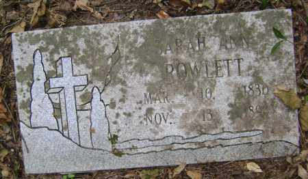 PINNELL ROWLETT, SARAH ANN - Lawrence County, Arkansas | SARAH ANN PINNELL ROWLETT - Arkansas Gravestone Photos