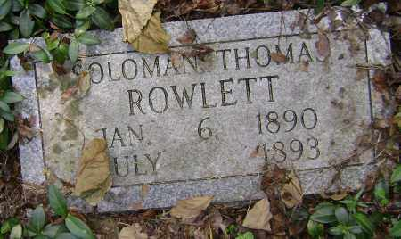 ROWLETT, SOLOMON THOMAS - Lawrence County, Arkansas | SOLOMON THOMAS ROWLETT - Arkansas Gravestone Photos