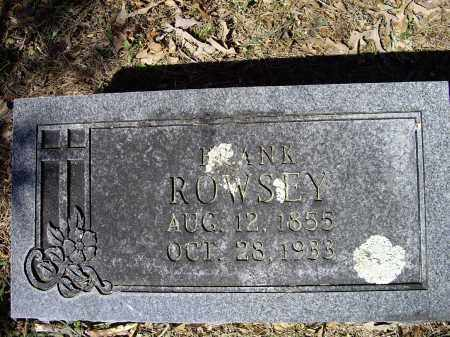 ROWSEY, FRANK M. - Lawrence County, Arkansas | FRANK M. ROWSEY - Arkansas Gravestone Photos