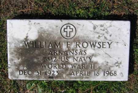 ROWSEY (VETERAN WWII), WILLIAM M. FRANCIS - Lawrence County, Arkansas | WILLIAM M. FRANCIS ROWSEY (VETERAN WWII) - Arkansas Gravestone Photos