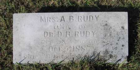 "HENDERSON RUDY, ANNA BELL ""BILLIE"" - Lawrence County, Arkansas 