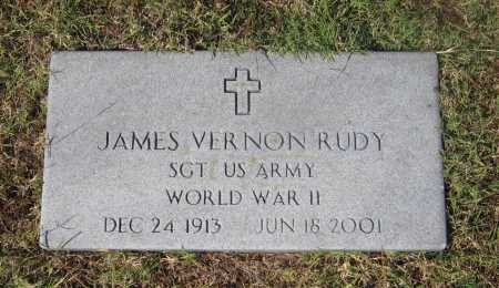 RUDY (VETERAN WWII), JAMES VERNON - Lawrence County, Arkansas | JAMES VERNON RUDY (VETERAN WWII) - Arkansas Gravestone Photos