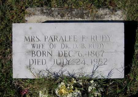 FORTENBERRY RUDY, PARALEE - Lawrence County, Arkansas | PARALEE FORTENBERRY RUDY - Arkansas Gravestone Photos