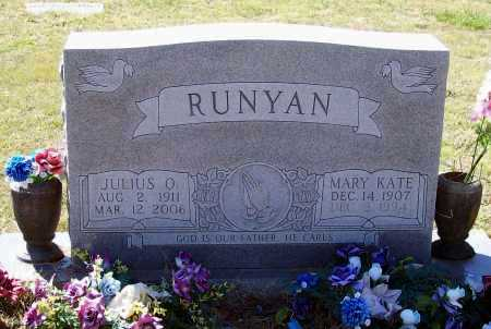RUNYAN, JULIUS OLENE - Lawrence County, Arkansas | JULIUS OLENE RUNYAN - Arkansas Gravestone Photos
