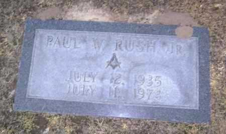 RUSH, JR, PAUL W. - Lawrence County, Arkansas | PAUL W. RUSH, JR - Arkansas Gravestone Photos