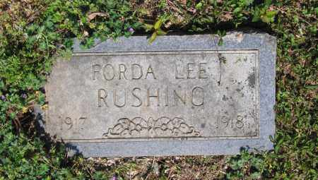 RUSHING, FORDA LEE - Lawrence County, Arkansas | FORDA LEE RUSHING - Arkansas Gravestone Photos