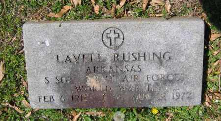 RUSHING (VETERAN WWII), LAVELLE - Lawrence County, Arkansas | LAVELLE RUSHING (VETERAN WWII) - Arkansas Gravestone Photos