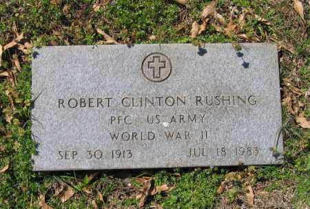 RUSHING (VETERAN WWII), ROBERT CLINTON - Lawrence County, Arkansas | ROBERT CLINTON RUSHING (VETERAN WWII) - Arkansas Gravestone Photos