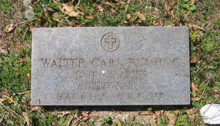 RUSHING (VETERAN WWII), WALTER CARL - Lawrence County, Arkansas | WALTER CARL RUSHING (VETERAN WWII) - Arkansas Gravestone Photos