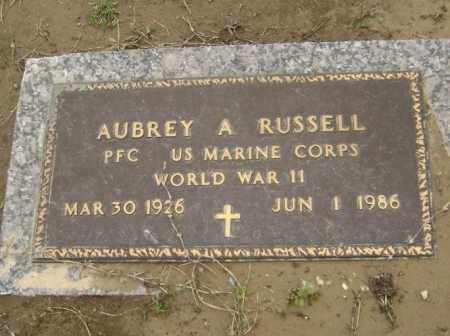RUSSELL  (VETERAN WWII), AUBREY A - Lawrence County, Arkansas | AUBREY A RUSSELL  (VETERAN WWII) - Arkansas Gravestone Photos