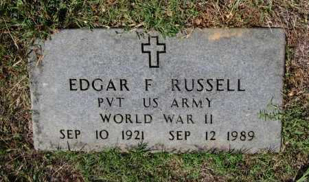 RUSSELL (VETERAN WWII), EDGAR FILMORE - Lawrence County, Arkansas | EDGAR FILMORE RUSSELL (VETERAN WWII) - Arkansas Gravestone Photos