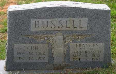 ANDERSON RUSSELL, SARAH FRANCES - Lawrence County, Arkansas | SARAH FRANCES ANDERSON RUSSELL - Arkansas Gravestone Photos