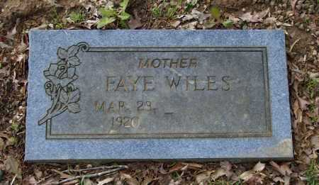 WILES, FAYE ELIZABETH HILBURN RUSSELL - Lawrence County, Arkansas | FAYE ELIZABETH HILBURN RUSSELL WILES - Arkansas Gravestone Photos