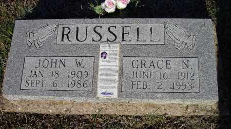 RUSSELL, JOHN WILLIAM - Lawrence County, Arkansas | JOHN WILLIAM RUSSELL - Arkansas Gravestone Photos