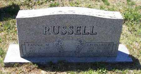 SHELTON RUSSELL, FANNIE MAE - Lawrence County, Arkansas | FANNIE MAE SHELTON RUSSELL - Arkansas Gravestone Photos