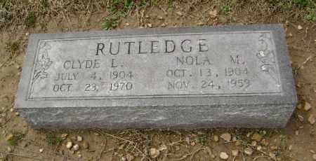 RUTLEDGE, CLYDE LEHMAN - Lawrence County, Arkansas | CLYDE LEHMAN RUTLEDGE - Arkansas Gravestone Photos