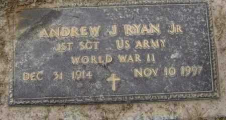 RYAN, JR  (VETERAN WWII), ANDREW J. - Lawrence County, Arkansas | ANDREW J. RYAN, JR  (VETERAN WWII) - Arkansas Gravestone Photos