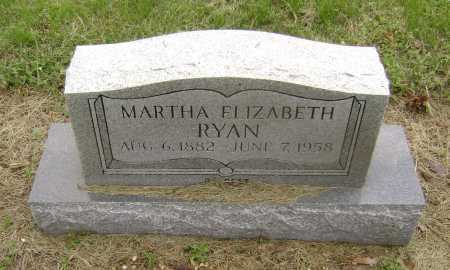 RYAN, MARTHA ELIZABETH - Lawrence County, Arkansas | MARTHA ELIZABETH RYAN - Arkansas Gravestone Photos