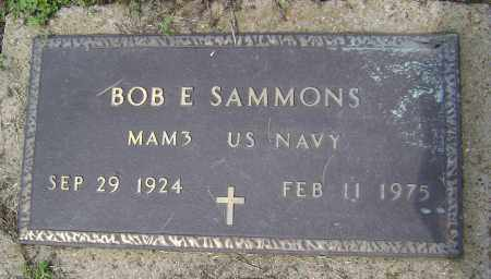 SAMMONS (VETERAN), BOB E - Lawrence County, Arkansas | BOB E SAMMONS (VETERAN) - Arkansas Gravestone Photos