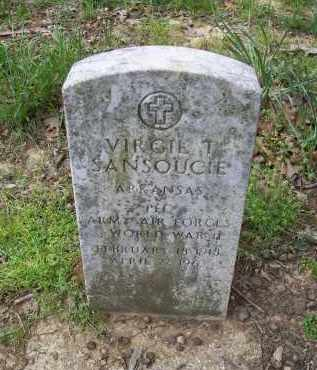 SANSOUCIE (VETERAN WWII), VIRGIL T. - Lawrence County, Arkansas | VIRGIL T. SANSOUCIE (VETERAN WWII) - Arkansas Gravestone Photos