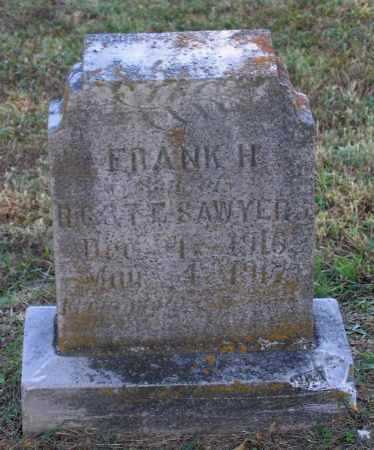 SAWYER, FRANK H. - Lawrence County, Arkansas | FRANK H. SAWYER - Arkansas Gravestone Photos