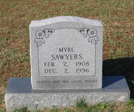 GOODWIN SAWYERS, MYRL - Lawrence County, Arkansas | MYRL GOODWIN SAWYERS - Arkansas Gravestone Photos