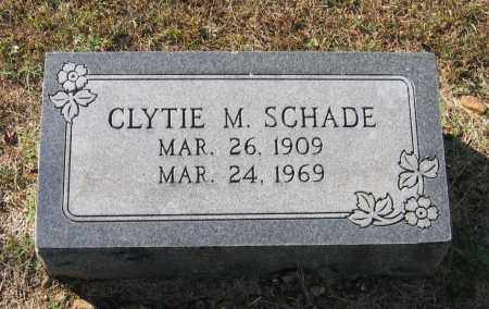 ELLIOTT SCHADE, CLYTIE MAE - Lawrence County, Arkansas | CLYTIE MAE ELLIOTT SCHADE - Arkansas Gravestone Photos