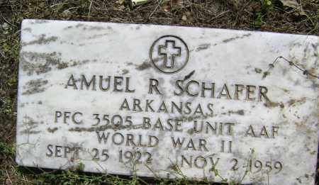 SCHAFER (VETERAN WWII), AMUEL R - Lawrence County, Arkansas | AMUEL R SCHAFER (VETERAN WWII) - Arkansas Gravestone Photos