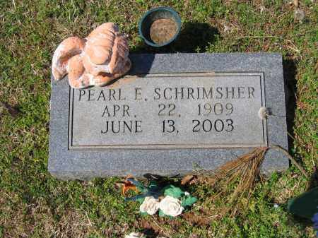SCHRIMSHER, PEARL E. - Lawrence County, Arkansas | PEARL E. SCHRIMSHER - Arkansas Gravestone Photos