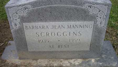 MANNING SCROGGINS, BARBARA JEAN - Lawrence County, Arkansas | BARBARA JEAN MANNING SCROGGINS - Arkansas Gravestone Photos