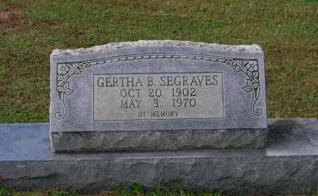 SEGRAVES, GERTHA B. - Lawrence County, Arkansas | GERTHA B. SEGRAVES - Arkansas Gravestone Photos