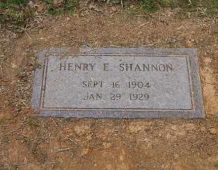 SHANNON, HENRY E. - Lawrence County, Arkansas | HENRY E. SHANNON - Arkansas Gravestone Photos