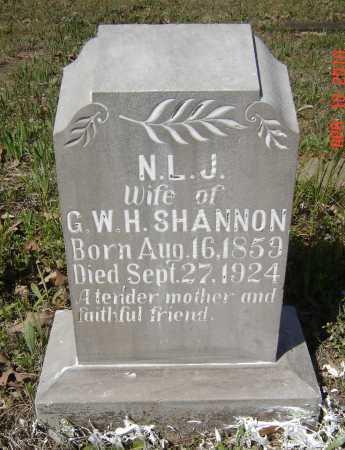 SHANNON, N. L. JANE - Lawrence County, Arkansas | N. L. JANE SHANNON - Arkansas Gravestone Photos
