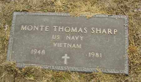 SHARP  (VETERAN VIET), MONTE THOMAS - Lawrence County, Arkansas | MONTE THOMAS SHARP  (VETERAN VIET) - Arkansas Gravestone Photos