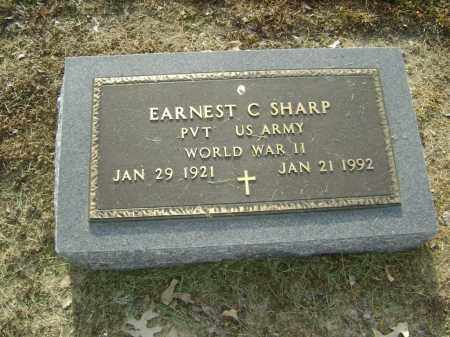 SHARP  (VETERAN WWII), EARNEST CLEO - Lawrence County, Arkansas | EARNEST CLEO SHARP  (VETERAN WWII) - Arkansas Gravestone Photos