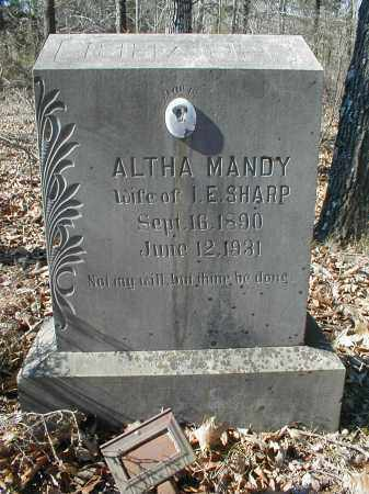 HUSKEY SHARP, ALTHA AMANDA - Lawrence County, Arkansas | ALTHA AMANDA HUSKEY SHARP - Arkansas Gravestone Photos