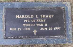 SHARP (VETERAN WWII), HAROLD LELAND - Lawrence County, Arkansas | HAROLD LELAND SHARP (VETERAN WWII) - Arkansas Gravestone Photos