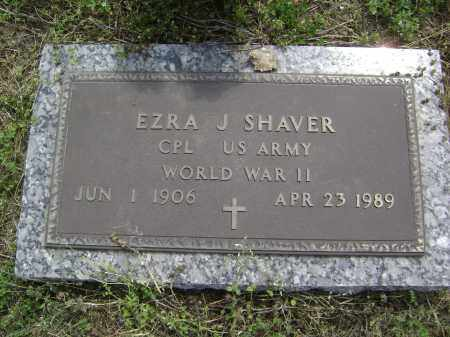 SHAVER (VETERAN WWII), EZRA J - Lawrence County, Arkansas | EZRA J SHAVER (VETERAN WWII) - Arkansas Gravestone Photos