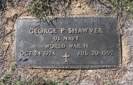 SHAWVER (VETERAN WWII), GEORGE PARK - Lawrence County, Arkansas | GEORGE PARK SHAWVER (VETERAN WWII) - Arkansas Gravestone Photos