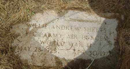 SHEETS  (VETERAN  WWII), WILLIE ANDREW - Lawrence County, Arkansas | WILLIE ANDREW SHEETS  (VETERAN  WWII) - Arkansas Gravestone Photos