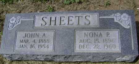 SHEETS, NONA P. - Lawrence County, Arkansas | NONA P. SHEETS - Arkansas Gravestone Photos