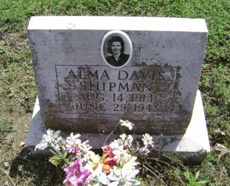 DAVIS SHIPMAN, ALMA - Lawrence County, Arkansas | ALMA DAVIS SHIPMAN - Arkansas Gravestone Photos