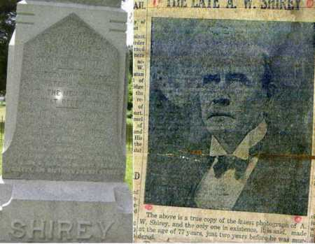 SHIREY, A. W. - Lawrence County, Arkansas | A. W. SHIREY - Arkansas Gravestone Photos