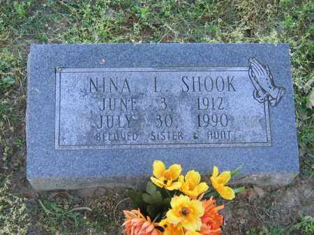 SHOOK, NINA L. - Lawrence County, Arkansas | NINA L. SHOOK - Arkansas Gravestone Photos