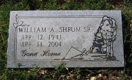 SHRUM, SR. (VETERAN), WILLIAM A. - Lawrence County, Arkansas | WILLIAM A. SHRUM, SR. (VETERAN) - Arkansas Gravestone Photos