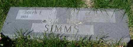 SIMMS, DOLPH F. - Lawrence County, Arkansas | DOLPH F. SIMMS - Arkansas Gravestone Photos